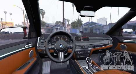 BMW X5 M (F85) 2016 [add-on] для GTA 5 вид сзади справа