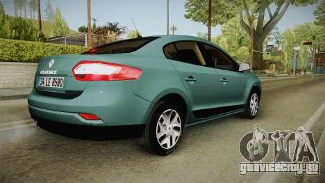 Renault Fluence Joy для GTA San Andreas вид слева