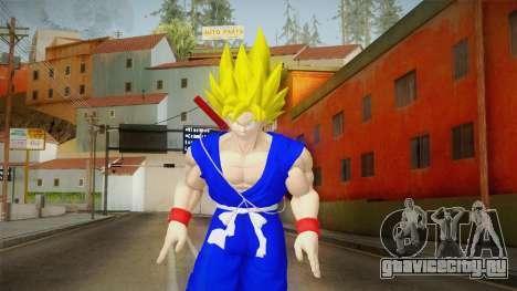 Goku Original DB Gi Blue v3 для GTA San Andreas