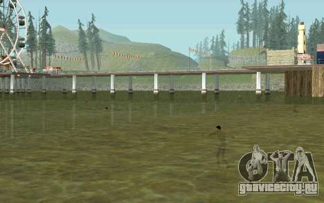 На пляжах люди плавают в воде для GTA San Andreas четвёртый скриншот