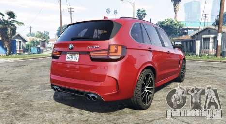 BMW X5 M (F85) 2016 [add-on] для GTA 5 вид сзади слева