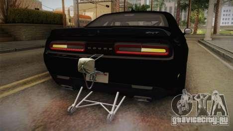 Dodge Challenger 2017 Drag для GTA San Andreas салон