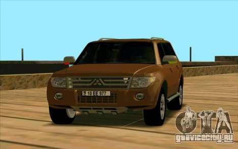 Mitsubishi Pajero Азери для GTA San Andreas вид слева
