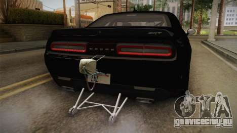 Dodge Challenger 2017 Drag для GTA San Andreas вид снизу