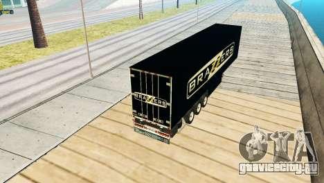 Прицеп Brazzers для GTA San Andreas вид сзади слева