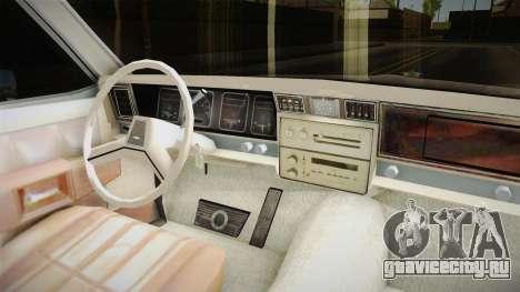 Chevrolet Caprice 1986 для GTA San Andreas вид изнутри