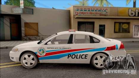 Chevrolet Impala Las Venturas Police Department для GTA San Andreas вид слева