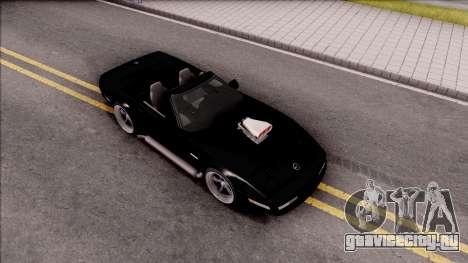Chevrolet Corvette C4 1996 Cabrio для GTA San Andreas вид справа