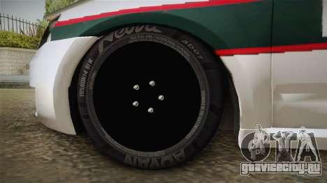 Skoda Octavia Police для GTA San Andreas вид сзади