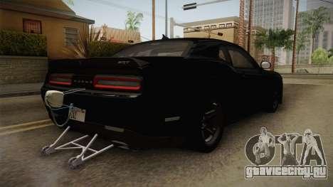 Dodge Challenger 2017 Drag для GTA San Andreas вид справа