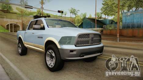 Dodge Ram Technical для GTA San Andreas вид сзади слева