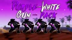 Переливающийся Бело-Розовый Пак Оружия