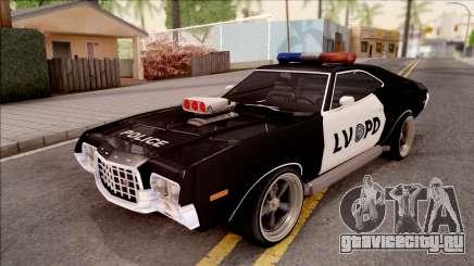 Ford Gran Torino Police LVPD 1972 v4 для GTA San Andreas