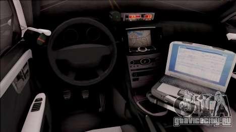 Ford Taurus 2011 Des Moines PD для GTA San Andreas вид изнутри