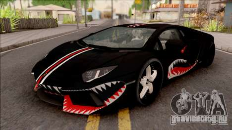 Lamborghini Aventador Shark New Edition Black для GTA San Andreas