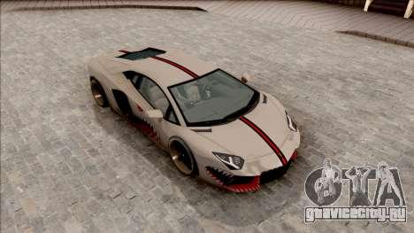 Lamborghini Aventador Shark New Edition White для GTA San Andreas вид справа