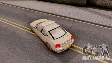 Dodge Charger Gold 2007 Iowa State Patrol для GTA San Andreas вид сзади