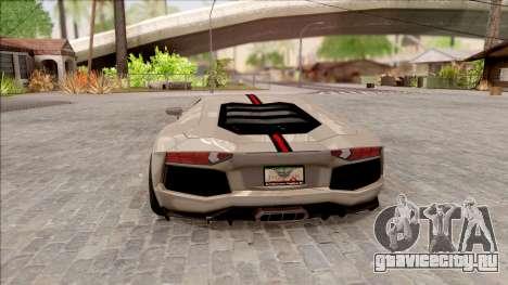 Lamborghini Aventador Shark New Edition White для GTA San Andreas вид сзади слева