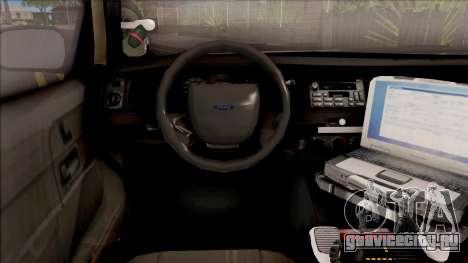 Ford Crown Victoria 2003 Iowa State Patrol для GTA San Andreas вид изнутри
