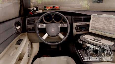 Dodge Charger Gold 2007 Iowa State Patrol для GTA San Andreas вид изнутри