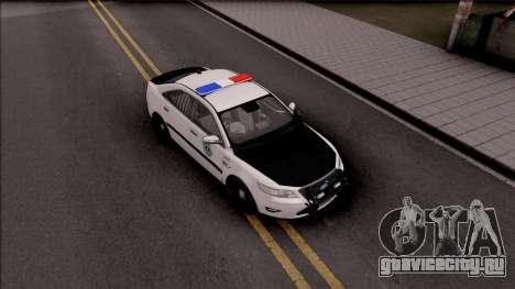 Ford Taurus 2011 Des Moines PD для GTA San Andreas вид справа