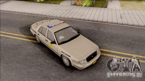 Ford Crown Victoria 2003 Iowa State Patrol для GTA San Andreas вид справа
