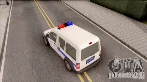 Ford Tourneo Connect K210S Turkish Police для GTA San Andreas вид сзади