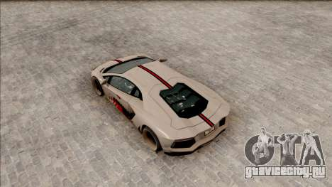 Lamborghini Aventador Shark New Edition White для GTA San Andreas вид сзади