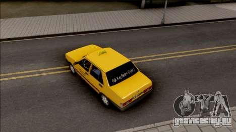 Tofas Sahin Taxi 1999 v2 для GTA San Andreas вид сзади