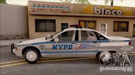 Chevrolet Caprice Police NYPD для GTA San Andreas вид слева