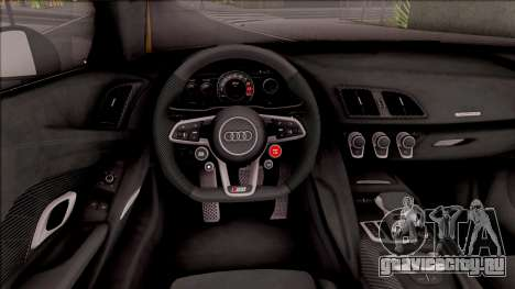 Audi R8 V10 Plus 2018 EU Plate для GTA San Andreas вид изнутри