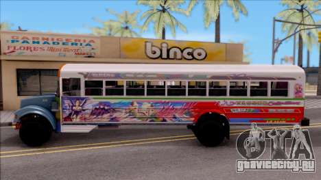 Diablo Rojo Panama Blue Bird для GTA San Andreas вид слева
