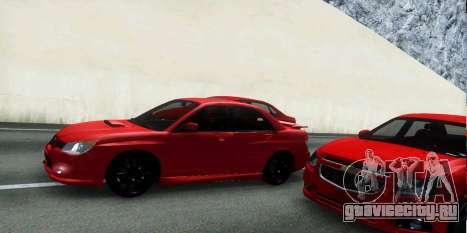 Subaru Impreza WRX Hawkeye Baby Driver v.1 для GTA San Andreas вид сверху