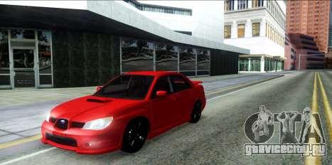 Subaru Impreza WRX Hawkeye Baby Driver v.1 для GTA San Andreas вид сзади