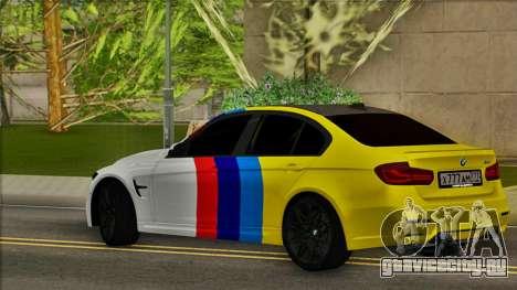BMW M3 F30 для GTA San Andreas вид слева