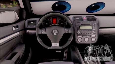 Volkswagen Golf BK GARAGE для GTA San Andreas вид изнутри