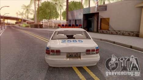 Chevrolet Caprice Police NYPD для GTA San Andreas вид сзади слева