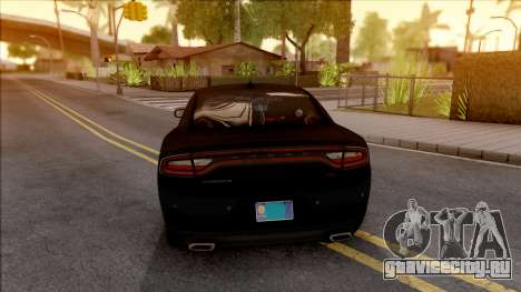 Dodge Charger Unmarked 2015 для GTA San Andreas вид сзади слева