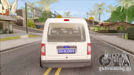 Ford Tourneo Connect K210S Turkish Police для GTA San Andreas вид сзади слева
