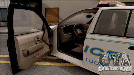 Ford Crown Victoria 2007 Altoona PD для GTA San Andreas вид изнутри