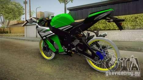 Kawasaki ZX10 R R17 для GTA San Andreas вид справа