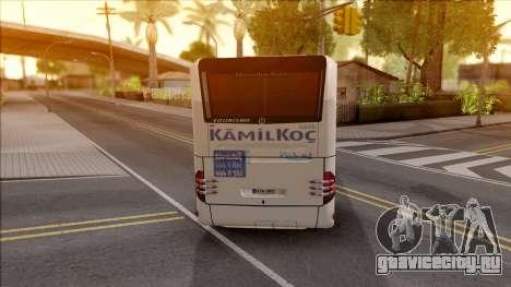 Mercedes-Benz Tourismo Kamil Koç для GTA San Andreas вид сзади слева