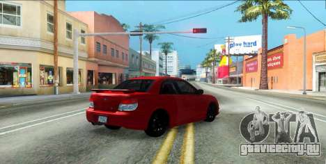 Subaru Impreza WRX Hawkeye Baby Driver v.1 для GTA San Andreas вид изнутри