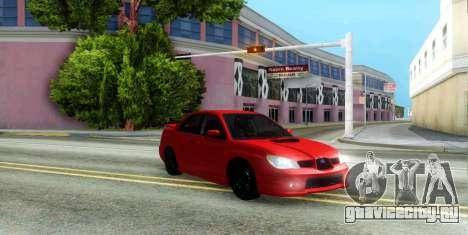 Subaru Impreza WRX Hawkeye Baby Driver v.1 для GTA San Andreas вид сбоку