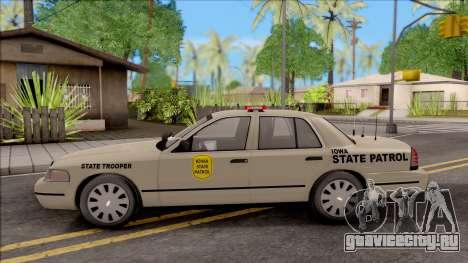 Ford Crown Victoria 2003 Iowa State Patrol для GTA San Andreas вид слева