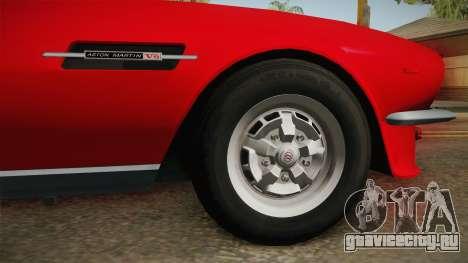 Aston Martin V8 Vantage 1977 HQLM для GTA San Andreas вид сзади
