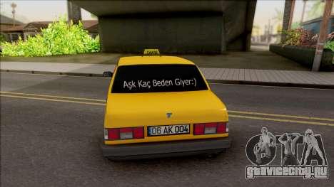 Tofas Sahin Taxi 1999 v2 для GTA San Andreas вид сзади слева