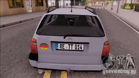 Volkswagen Golf Mk3 Variant для GTA San Andreas вид сзади слева