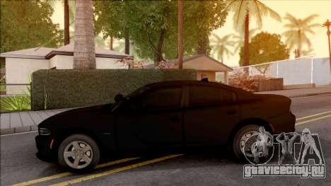 Dodge Charger Unmarked 2015 для GTA San Andreas вид слева