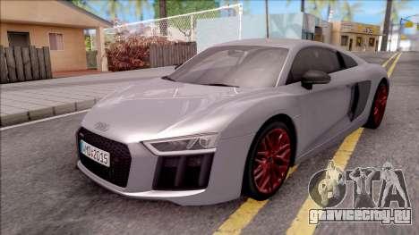 Audi R8 V10 Plus 2018 EU Plate для GTA San Andreas